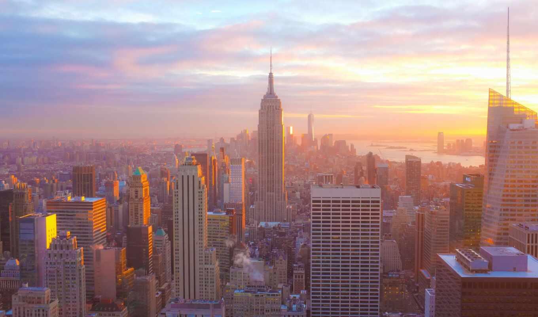 город, york, new, event