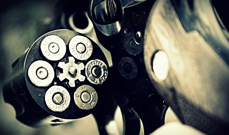 барабан, revolver, патроны,