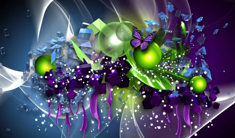 зелёный, purple