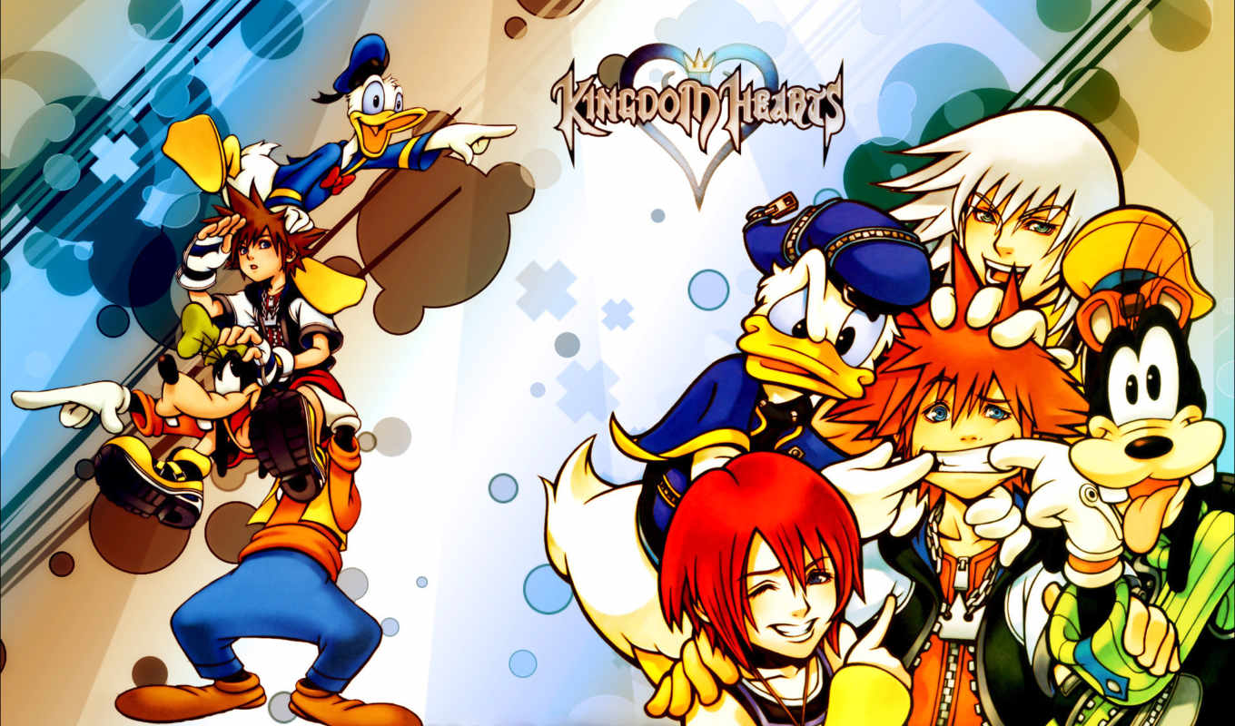 wallpapers, wallpaper, hd, скачать, and, from, video, game, anime, kingdom, series, manga, hearts, sora, donald,