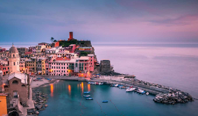 vernazza, italy, liguria, картинка, вернацца, город,