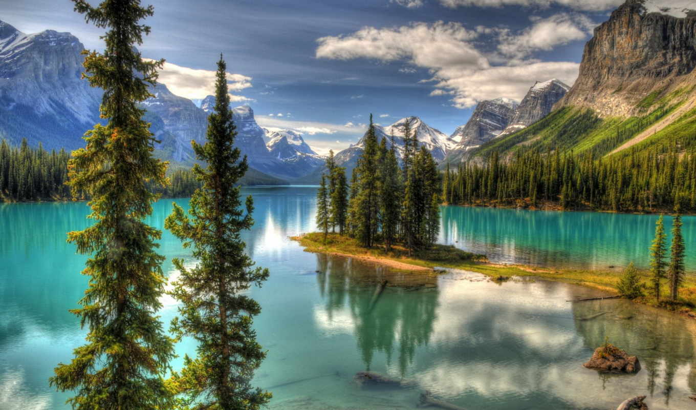 горы, nature, канада, природы, mountain, парк, красоты, valle