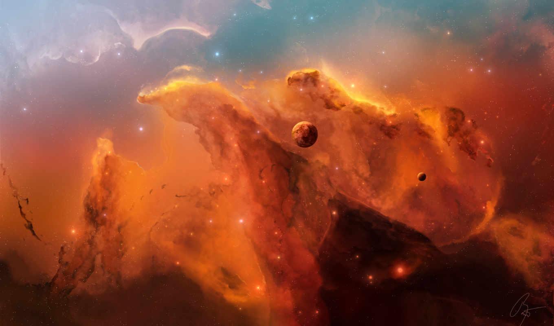 планета, туманность, свет, space, картинка, звезды, tags, josef, barton, joejesus, orange, this, you,