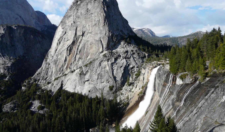 yosemite, природы, прекрасными, уголками, нашей, nevada, природа, falls, сборнике, планеты,