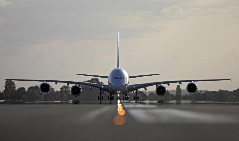 airbus, air, france, облака, ангар, картинка, картинку,