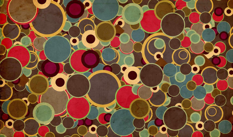 круги, абстракция, разноцветные, картинка, circles, ipad,