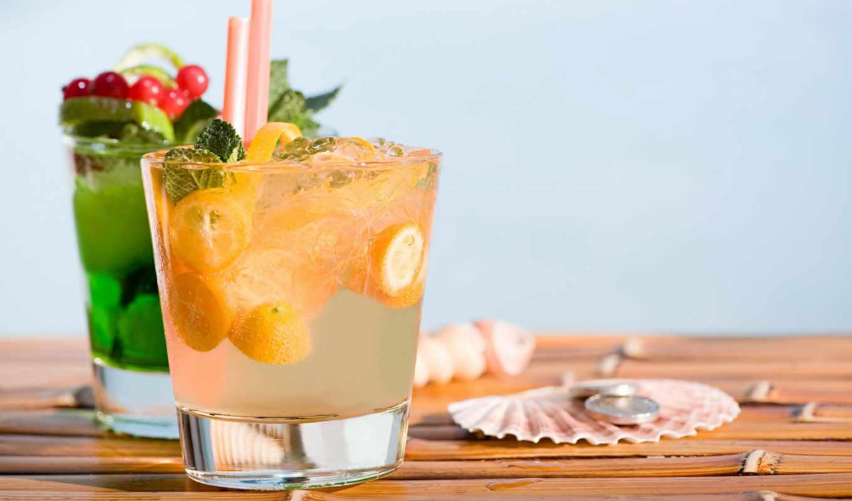 коктейли, коктейль, tropical, заставки, красочные,