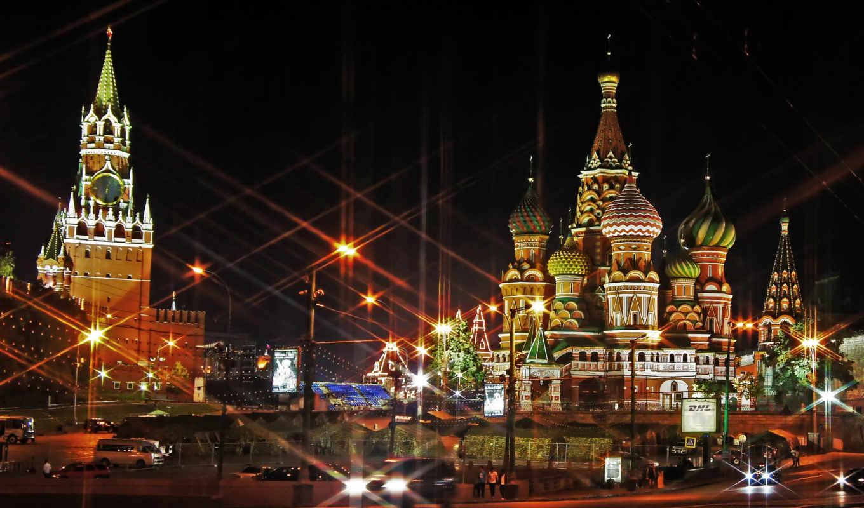 москва, россия, взгляд, кремль,