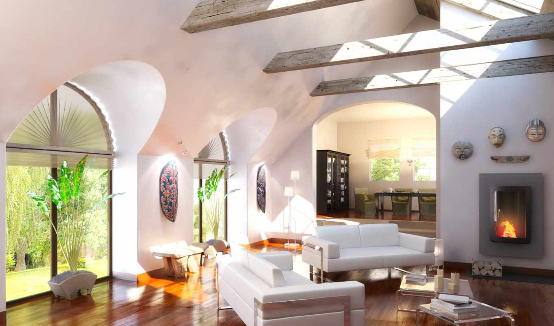 интерьер, диван, комната, living, design, home, ремонт, камин, embarazada, palabra,