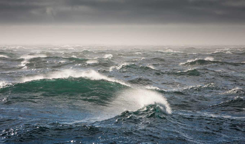 море, волны, взгляд, water, буря, природа, bering, берингово,