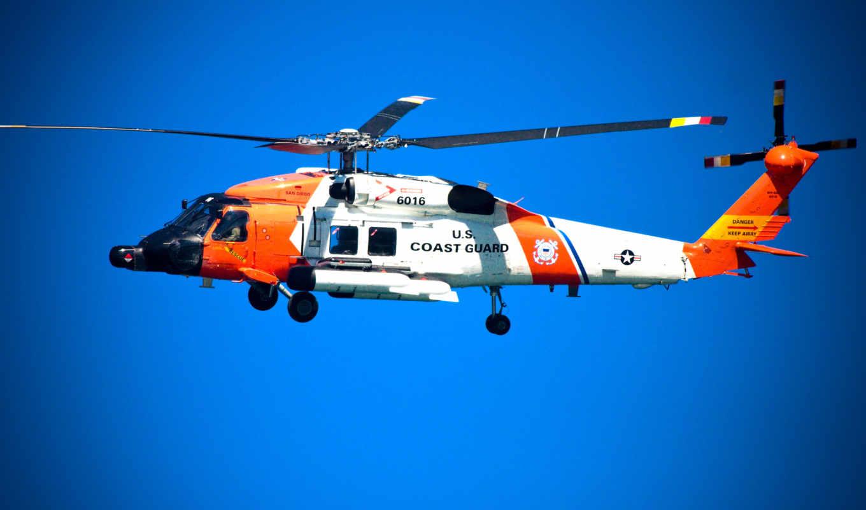 побережье, гвардия, сша, вертолет, береговая, защита, фон, самолёт, hh,