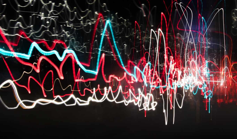 neon, свечение, dark, multicolor, line, abstract, радуга, свет, multicolored