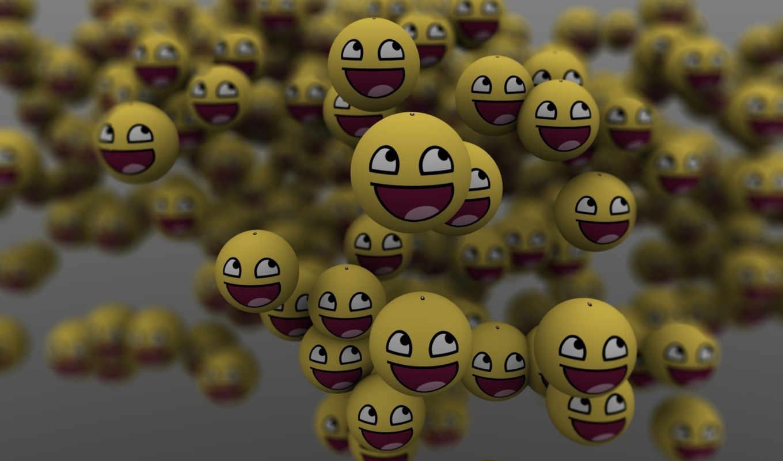 много, улыбка, смайликов, шары, face, nature, awesome, смайлики,