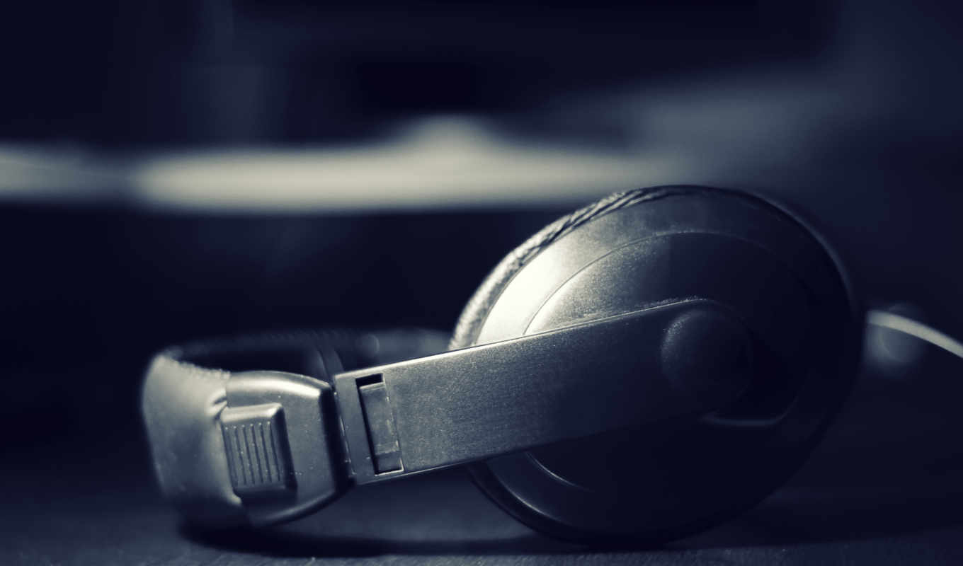 headphones, grey, music