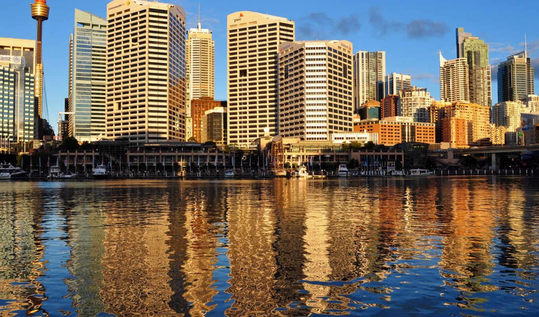 города, дома, ночь, австралия, reki, сидней, usa, небоскребы, мосты,