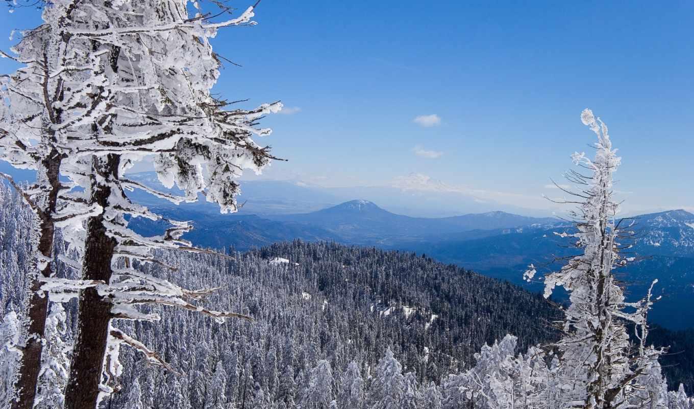 winter, красивые, горы, картинок, природа, красивая, природы,