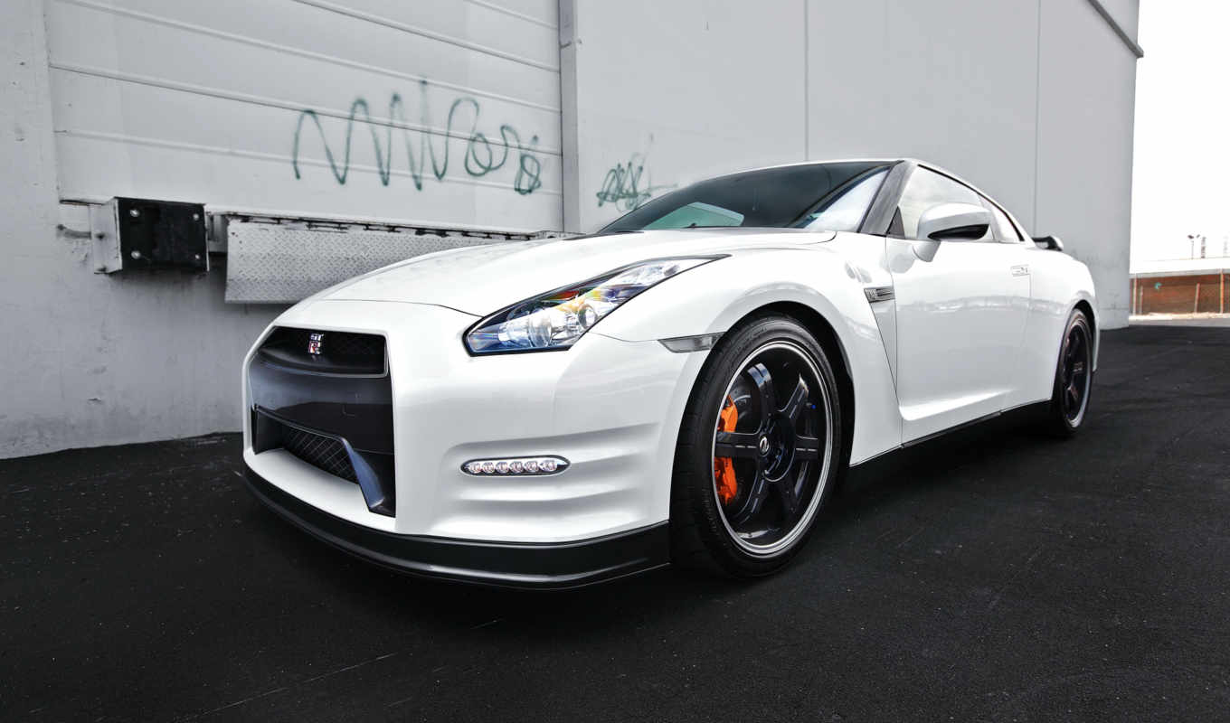 nissan, car, white, gtr, фото, stock, onedslr, тюнинг,