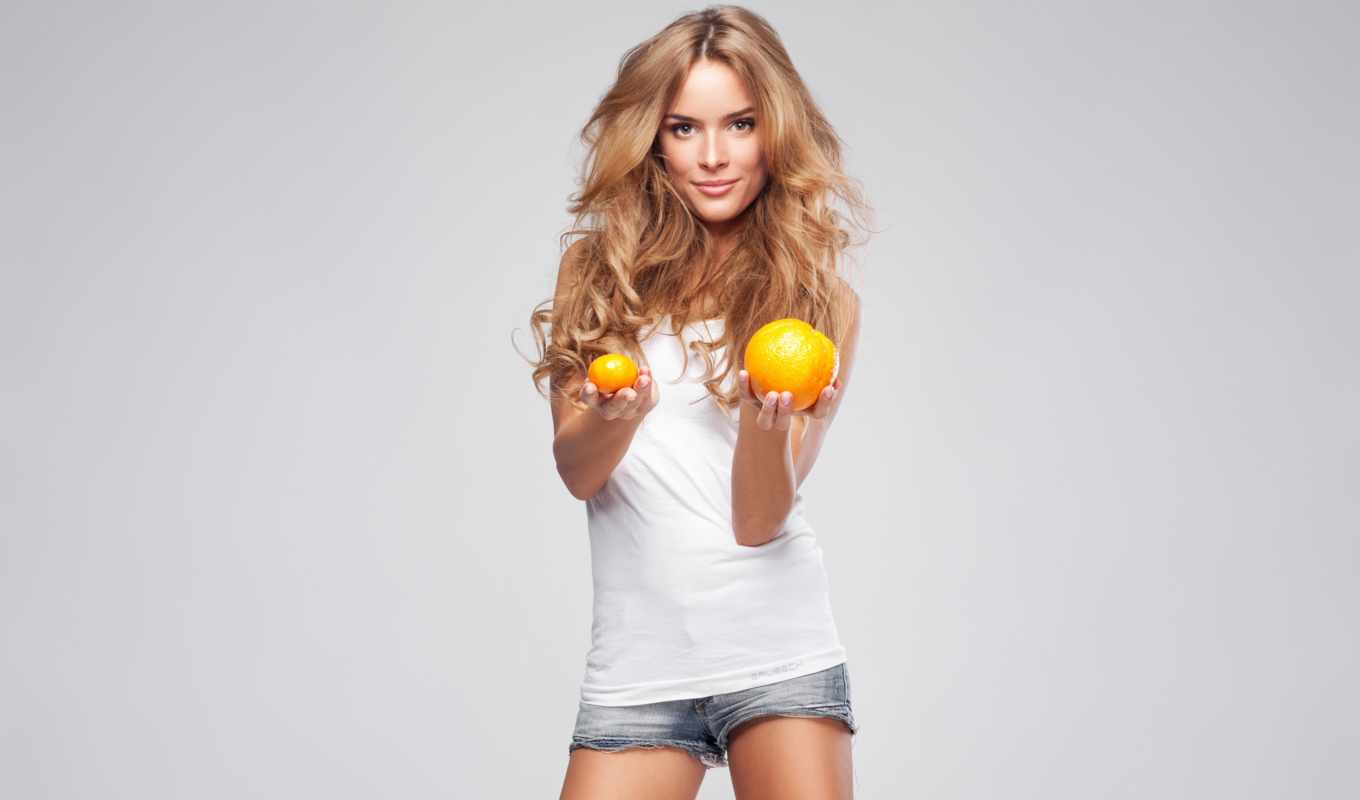 monika, ordowska, oranges, high, resolution, фон, widescreen,