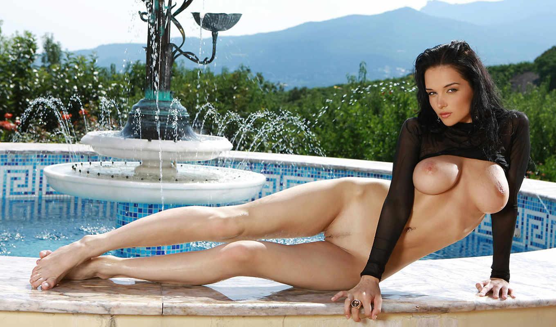 hot, супер, обнаженная, девушка, fountain, самый, found,