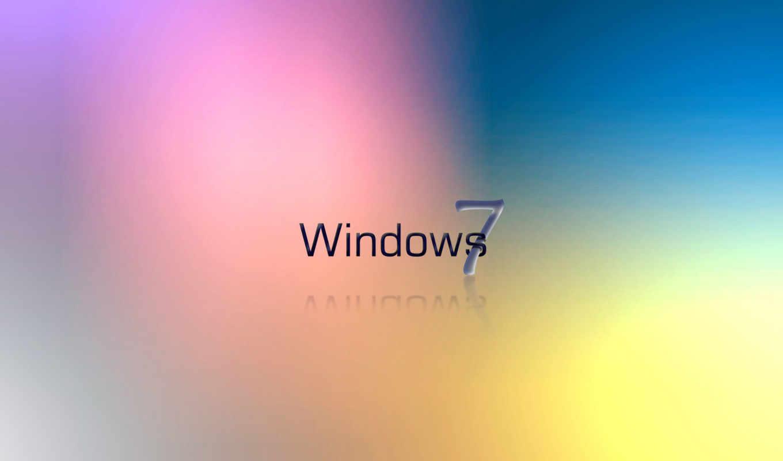 windows, se7en, лого, радужный