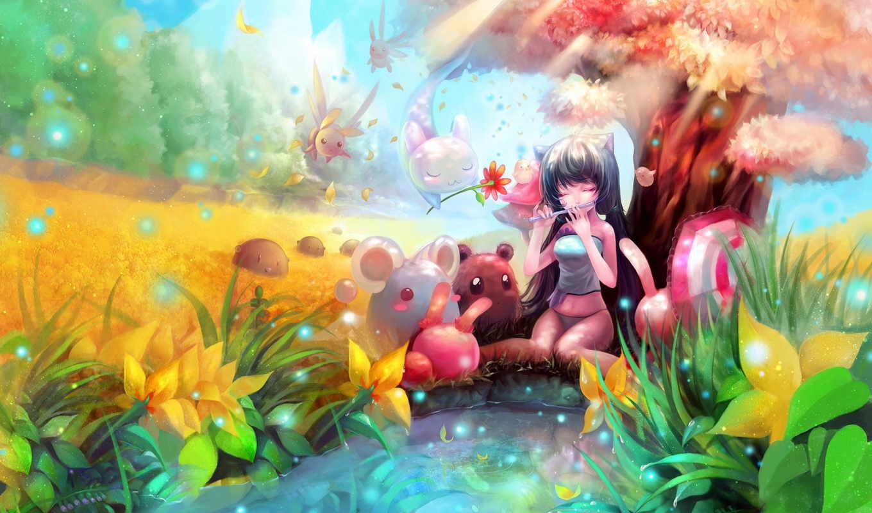anime, радужные, possible, широкоформатные,