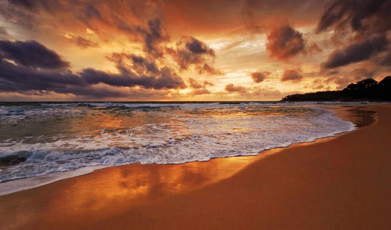 море, песок, волна, summer, день, пенка, ocean, water, пейзажи -, лета, последний,