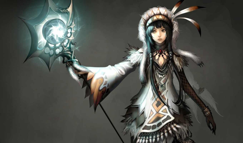 маг, atlantica, шаман, девушка, магия, online, женщина, game, канал,