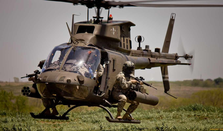 ах, kiowa, воин, bell, вертолет, armed, вертолеты, авиация, военный, new,
