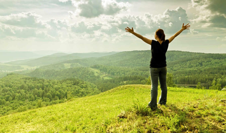 женщина, горы, горах, mountains, вершине, туристка, клипарт, tourist, растровый,