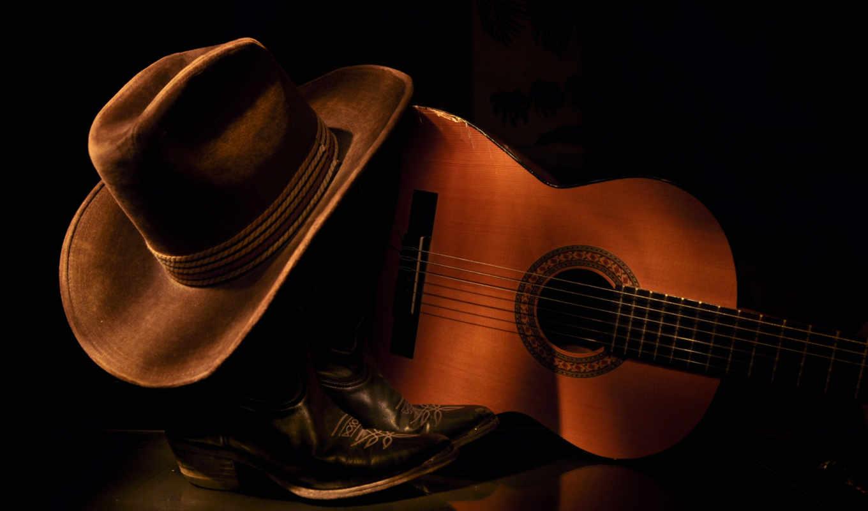 гитара, шляпа, стиль,