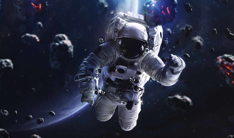 Обои астронавт, земля. Фантастика foto 10