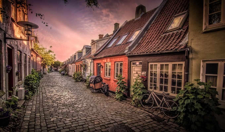 aarhus, denmark, улица, danish, город, casa, bicicle, dinamarca, house