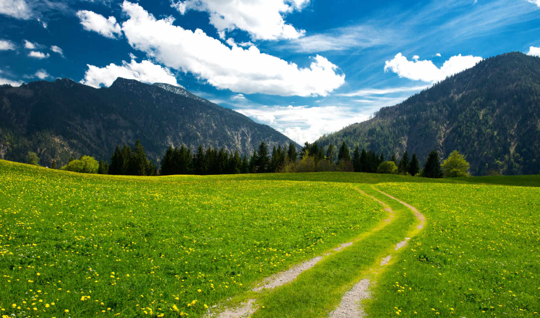 priroda, пейзаж, kartinka, горы, небо,