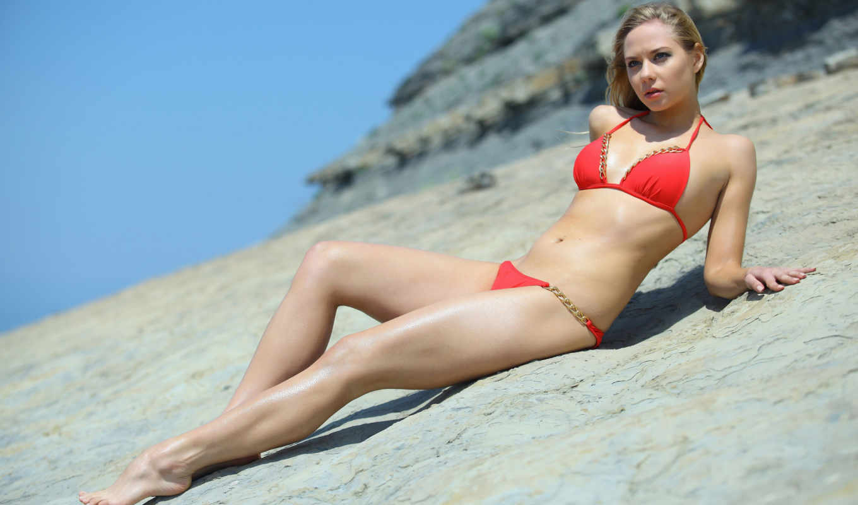 summer, devushki, широкоформатные, бикини, girls, пляж, blonde,