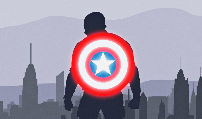 captain, щит, america, artwork, iphone, mobile, desktop,