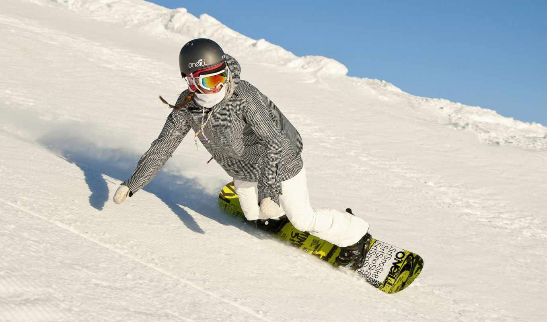 сноуборд, девушка, описание, изображении, спорт, play, бокс, трамплин, горы,