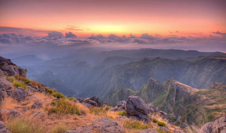 восход, горах, горы, солнца, совершенно, свой, wpapers,