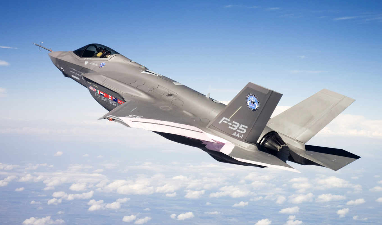 fighter, ii, joint, высота, strike, полет, aircraft, облака, jet,