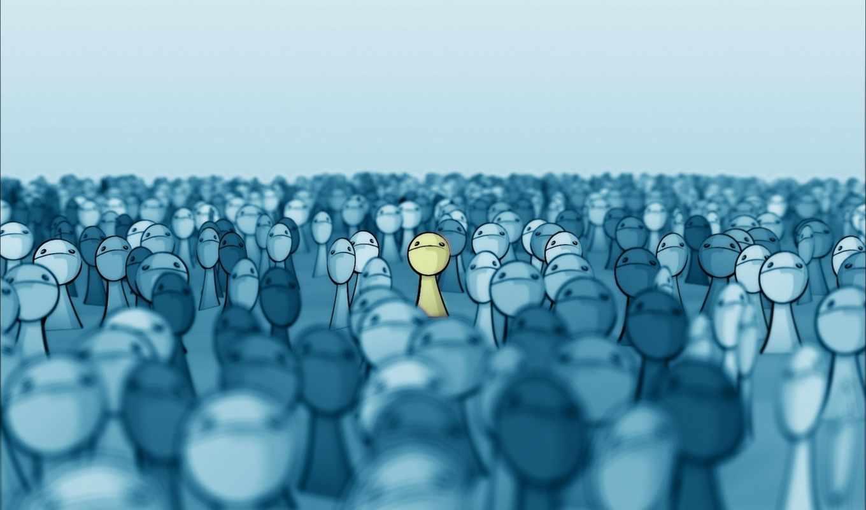 толпа, лица, желтый, выделяется, deviantart, face, smashmethod, картинка, правой, кнопкой, синее, рисованное, лучшее, картинку,