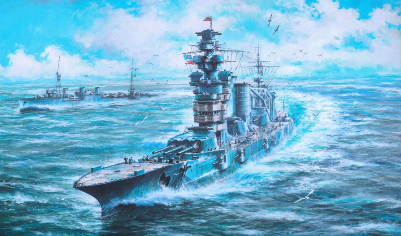 art, ship, sea, гангут, линейный, выпуск, широкоформатные, волны, октябрьская,