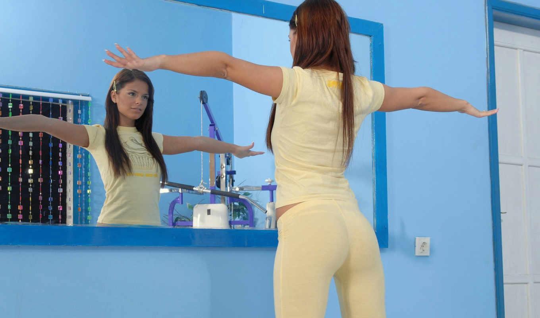 девушка, зеркало, девушки,