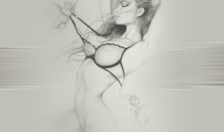 pencil, рисунки, рисунок, girls, красивый,