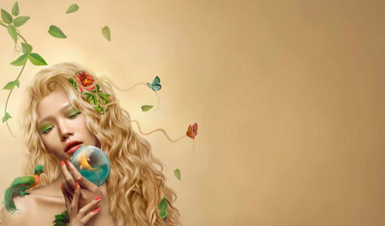 бабочки, fish, queen, fantasy,