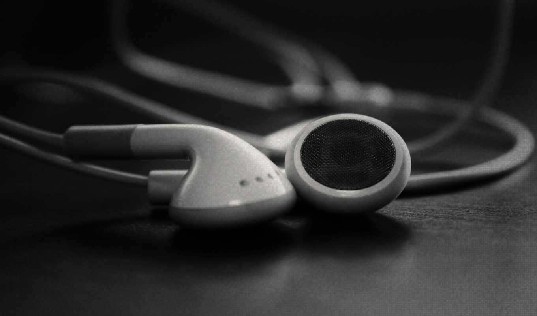 наушники, музыка, серый, фото