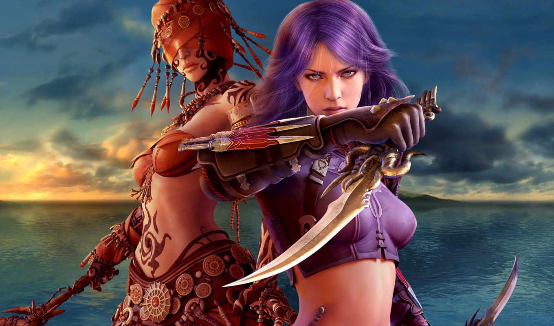 fantasy, graphics, girls, guild, wars, factions, normal,