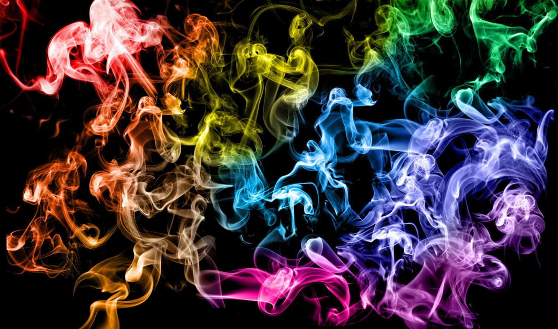 разноцветный, кольца, дым, картинка, best, hintergrundbilder, colored,