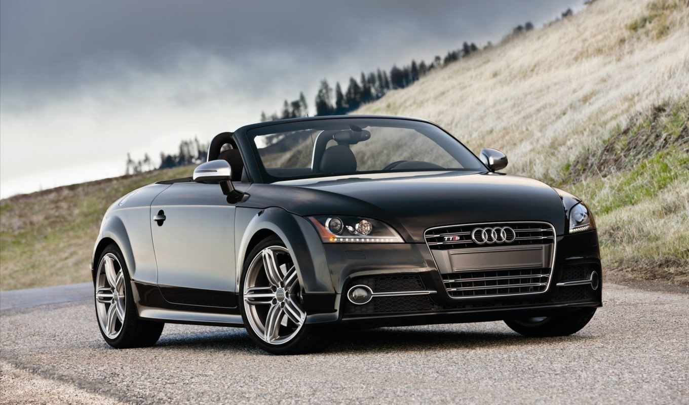 audi, roadster, tts, black, родстер, машина, this, picture, photo, you, gallery,