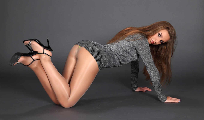колготки, nylon, девушка, ножки, ноги, браун, ass,