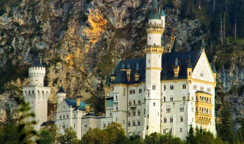 нойшванштайн, németország, castle, замок,