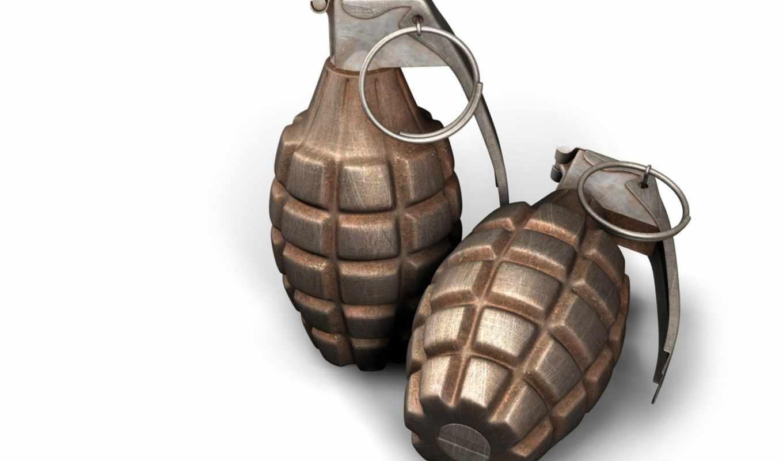 гранаты, две, макро, white, бомбы, свой, совершенно,